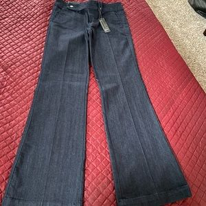 Dark denim trouser fit jeans